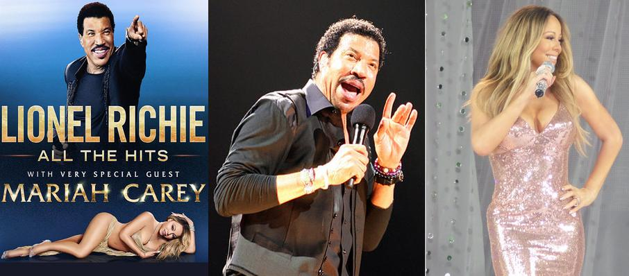 Lionel Richie with Mariah Carey at Amalie Arena