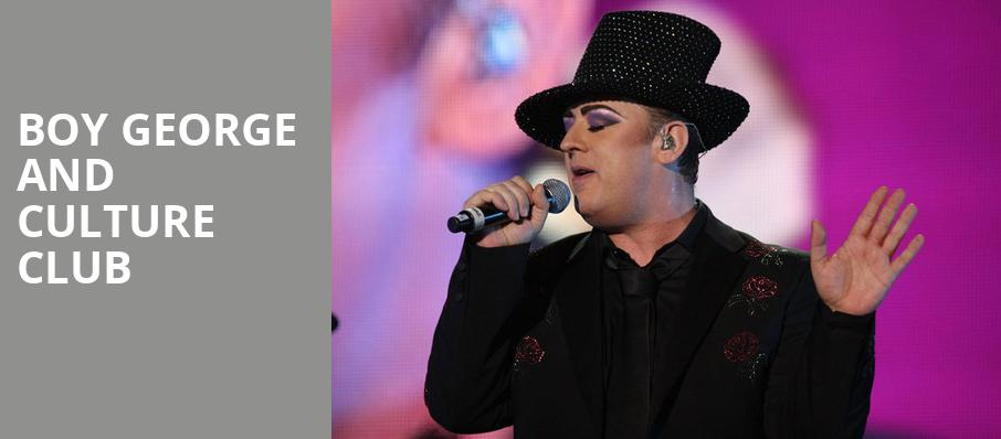 Boy George and Culture Club, USF Sundome, Tampa